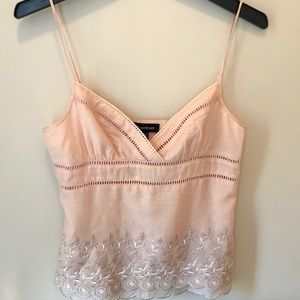 Bebe Silk Cotton Camisole with Lace